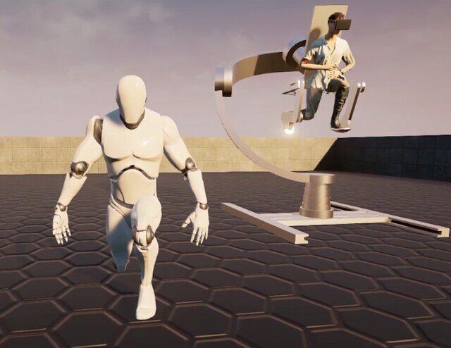 ابداع یک اسکلت خارجی برای تجربه کامل دنیای واقعیت مجازی